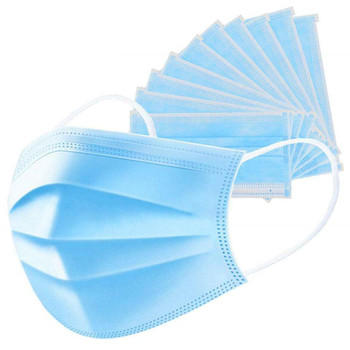 Pleated Blue Procedure Face Mask