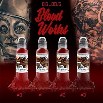 BIG JOEL'S BLOOD WORK COLOR SET - WORLD FAMOUS