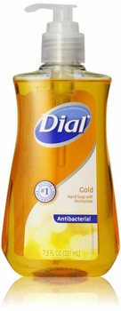 Dial Hand Soap, with Moisturizer, Antibacterial, Gold, 7.5 fl oz (221 ml)