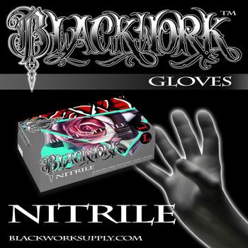 Blackwork Nitrile Powder-Free  Gloves - 100 Per Box/1,000 Per Case