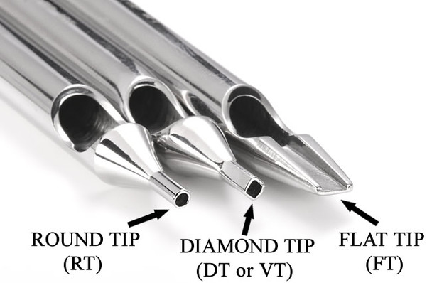 Electrum Traditions Individual Steel Tattoo Tips - Assorted Tattoo Needle Sizes inc 3RL 5RL 7RL 9RL, etc. tattoo needles.