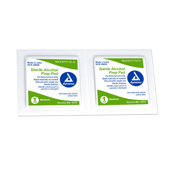 Sterile Alcohol Prep Wipes - 200 Count