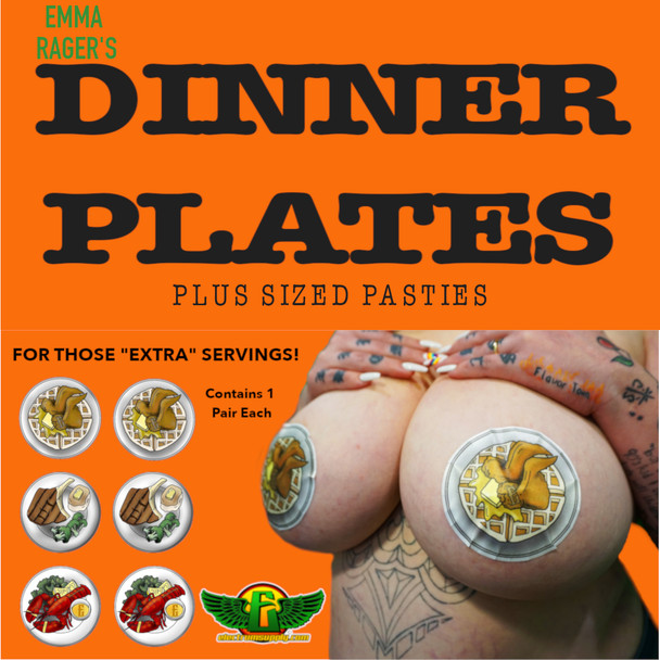 """Electrum """"Dinner Plates"""" Pastie Pack XL BUY MORE AND SAVE"""
