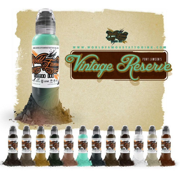Pony Lawson's Vintage Reserve Complete Ink Set - World Famous