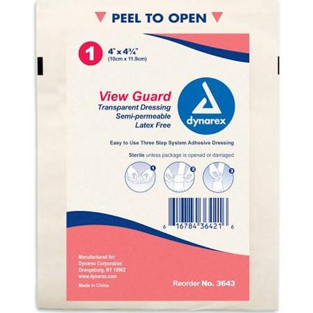 "View Guard Transparent Dressing 4"" x 4.75"" Box of 50"