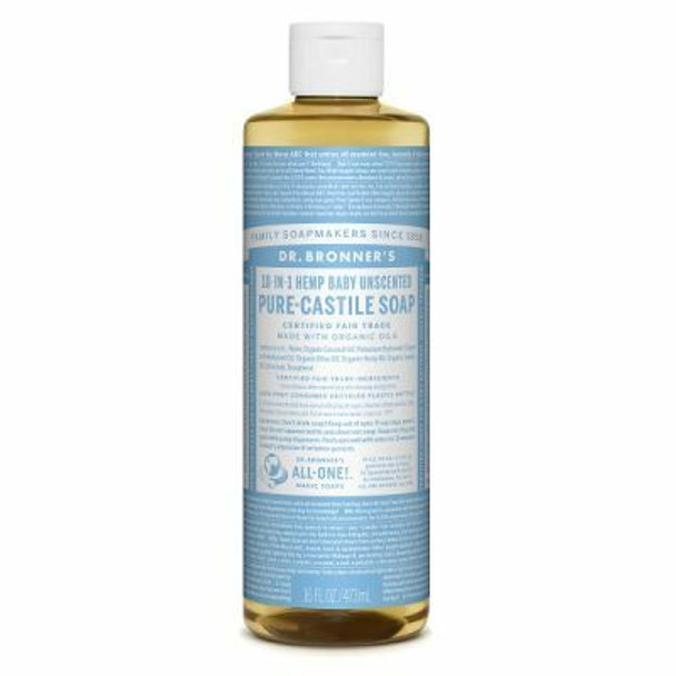 DR BRONNER'S PURE-CASTILE SOAP- BABY UNSCENTED