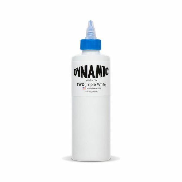 Dynamic Triple White Tattoo Ink - 8oz. Bottle  WhiteTattoo Ink