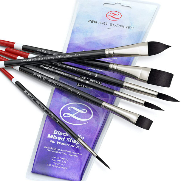 6 STENCIL BRUSH SET- FOR USE WITH NOX VIOLET