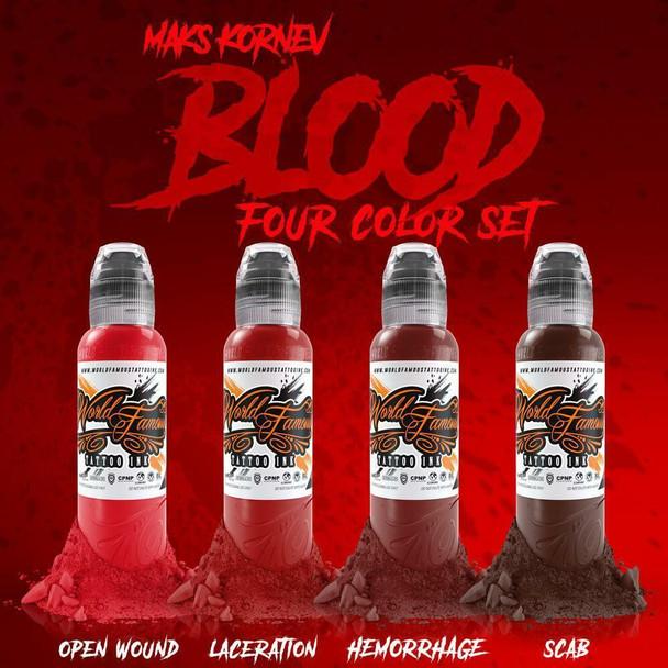 WORLD FAMOUS MAKS KORNEV'S BLOOD COLOR SET