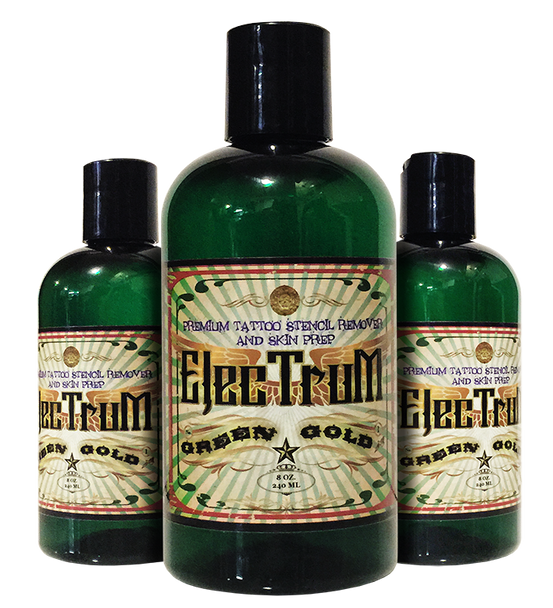 Electrum Premium Tattoo Skin Prep and Stencil Repositioner - 8 OZ.
