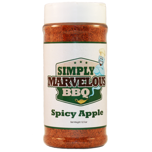 Spicy Apple BBQ rub offers a balance of sweet and sultry spices with a touch of apple that pairs great with all types of meat! Give your BBQ meat a kick of some sweet heat with Simply Marvelous Spicy Apple rub.
