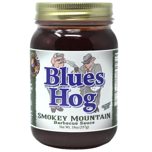Our best selling sauce! Sweet, smokey with a little kick on the finish. Blues Hog Smokey Mountain Sauce is a unique grilling/finishing sauce that combines the rich blend of high quality ingredients found in Blues Hog Original with the added depth of natural hickory smoke. Blues Hog Smokey Mountain is an outstanding basting sauce for chicken, ribs, pork, beef, and can be used in side dishes such as baked beans! Gluten Free