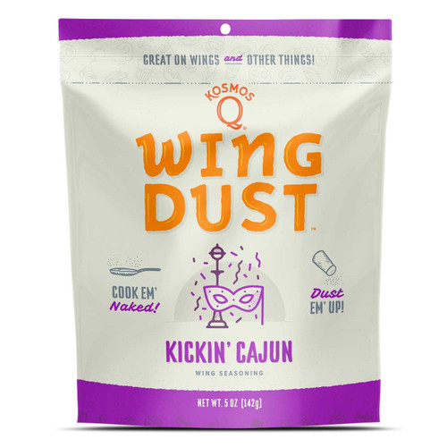 Harnessing the power of spicy creole cuisine, Kickin' Cajun Wing Dust is the cajun dry spice rub to end all cajun rubs. Just cook your wings (or any other meat or starch) like you always do, then sprinkle a little kick to bring the aromas and tastes of Bourbon Street right in the comfort of your own backyard. Sweet, savory, and just the right amount of heat, this might be the first ever spice to give New Orleans a run for its money!