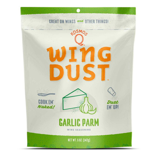 This savory blend of garlic, parmesan cheese and dehydrated peppers is the perfect final touch for just about any meal, but it was designed with wings on the mind. Simply sprinkle a light layer onto your food of choice while it's still hot, and gasp at the glorious garlicky goodness you get out of every bite! It's the ideal addition to add to your garlic parm wing sauce, or any other chicken wing recipe you have!