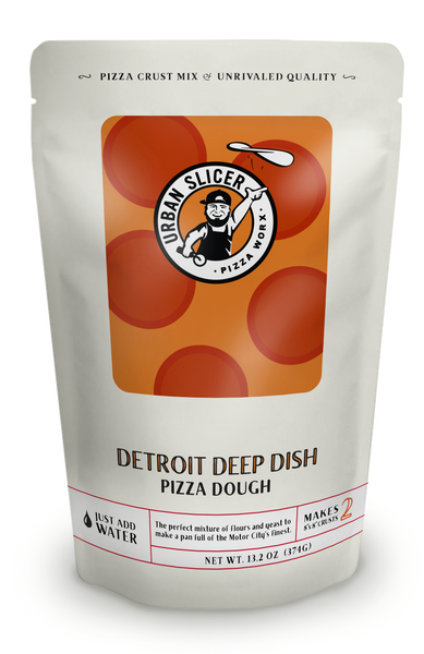 """The perfect mixture of flours and yeast to make a pan full of the Motor City's finest. Each package makes TWO 8"""" Detroit Deep Dish crusts."""