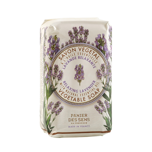 """Lavender Extra Gentle Soap 5.3 oz  Rich in essential oils, these extra gentle triple milled French soaps are delicately foaming cleansers that perfume the face and body lightly. These soaps are gentle enough for all skin types and the lavender essential oil is wonderful for skin that is hypersensitive. The healing fragrance of lavender allows stress to release in the body and mind.  Characteristics / • Enriched with Shea Butter • 100% Vegetable Oil • Individual packaging is Provence style  Dimensions & More Info / • Product Size / W.2"""" – H.3.5"""" – D.1.25"""""""
