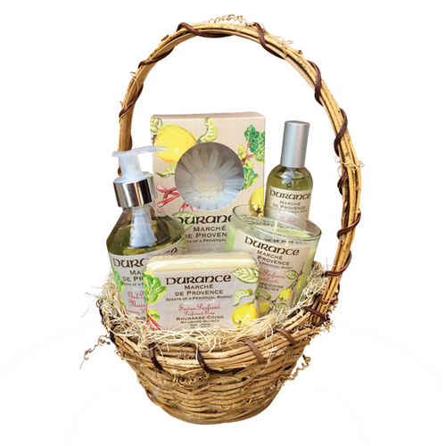 RHUBARB - QUINCE FRAGRANCE GIFT BASKET