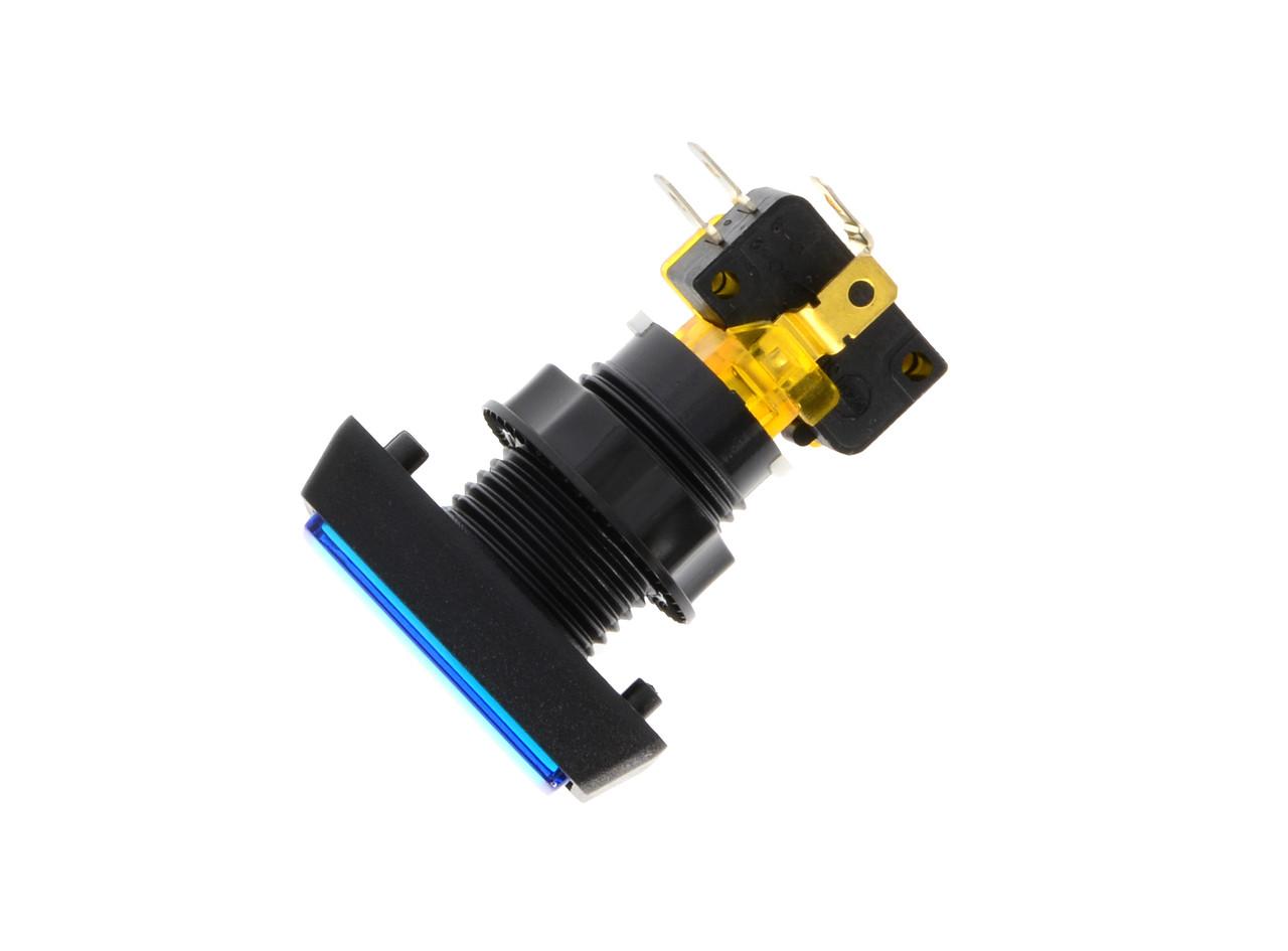 "Blue Rectangular ""Continue"" Push Button For Stacker Standard (EA0545)"