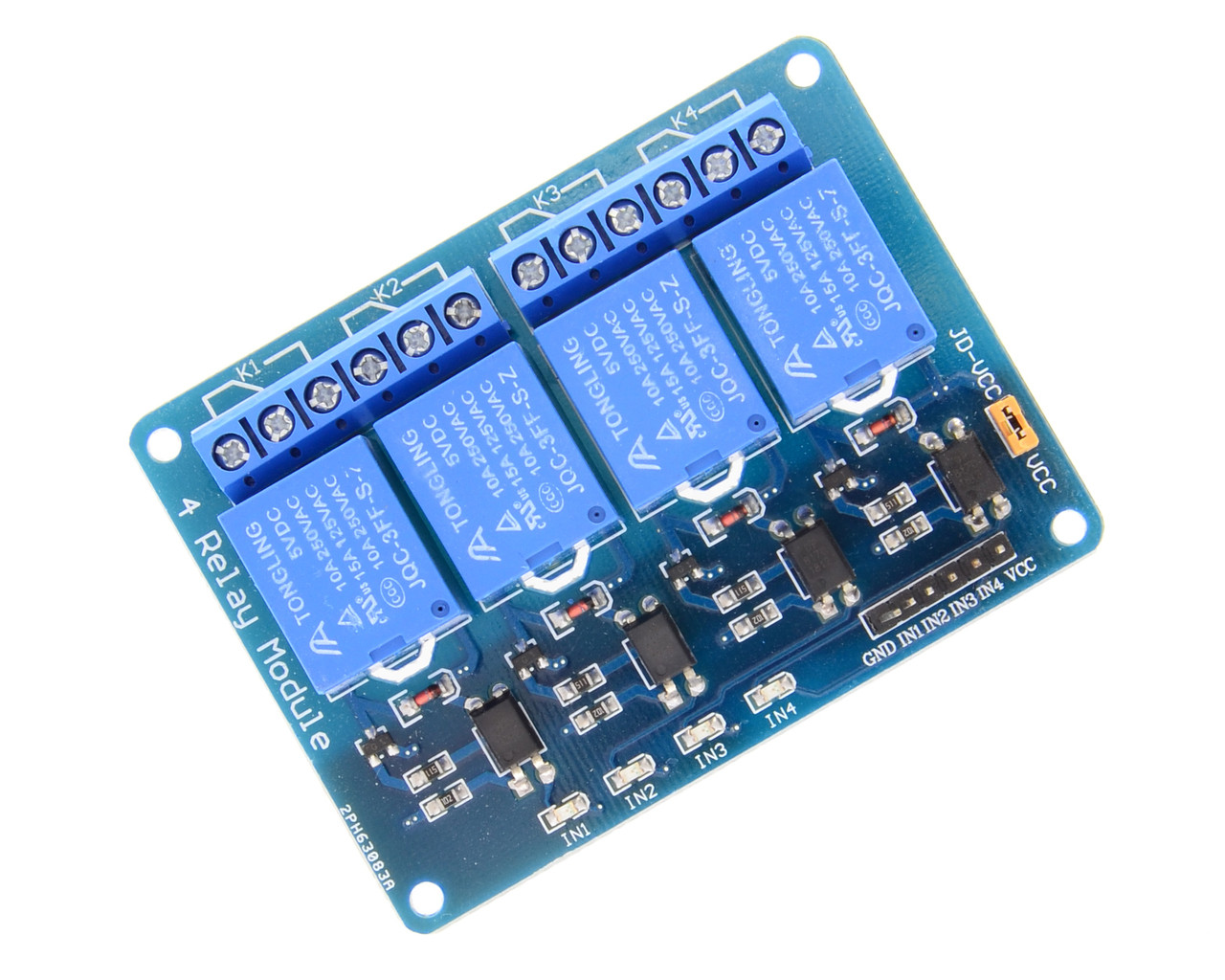 4-Channel Relay with Optocoupler for Virtual Rabbids (BA0016)