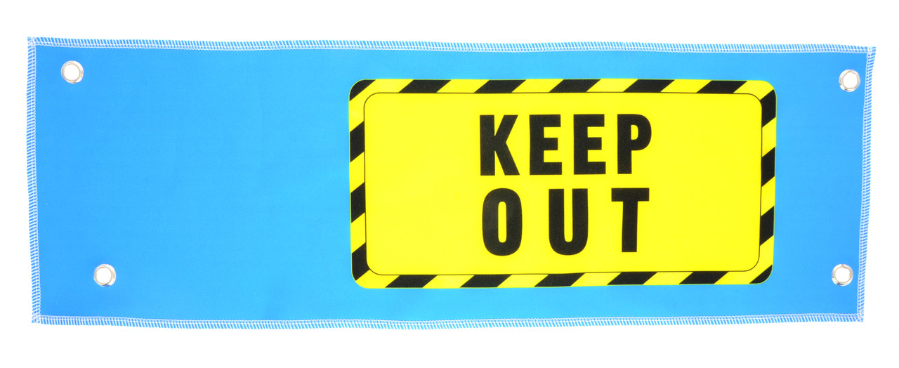 Keep out sign LEFT SIDE for Virtual Rabbids (RB1-PC-018B-R0)
