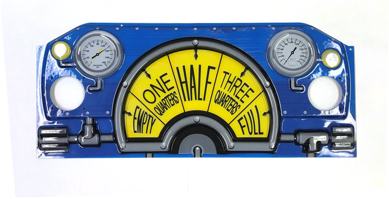 Acrylic Front Panel with Gauges for Choo Choo Train (CT1-FP-01-R0)