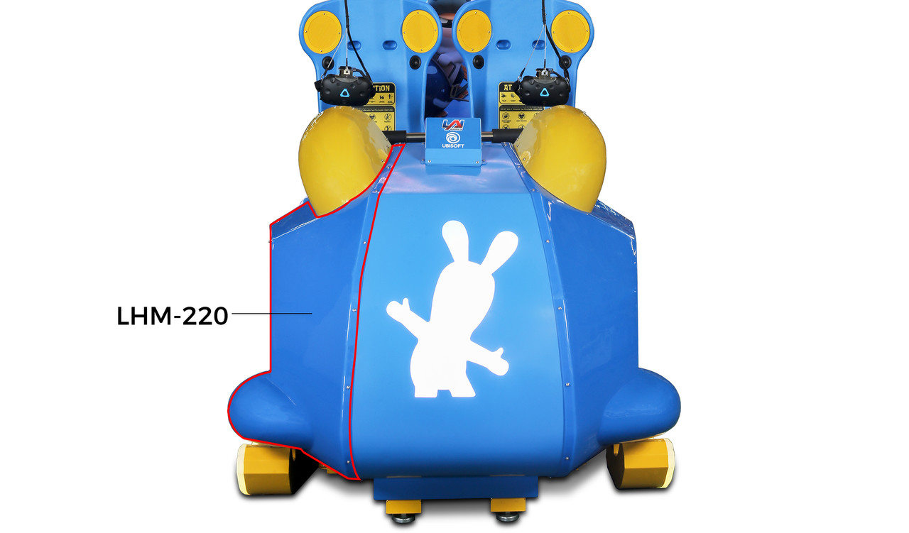 Plastic Sled Right Side for Virtual Rabbids (RB1-FP-12-R-R0)