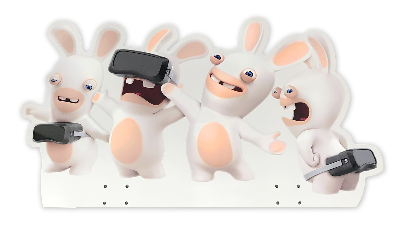 Acrylic Header Above Monitor for Virtual Rabbids (RB1-FP-10-R3)