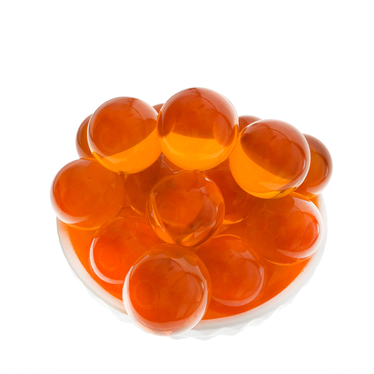 Big Orange Pearls for Pearl Fishery, Bag of 48 Balls (PMPF0015)