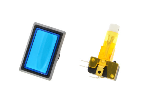 "Blue Rectangular ""Continue"" Push Button For Stacker Standard (EA0545)"