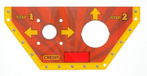Balloon Buster Acrylic Control Panel (BB1-FP-010-R1)