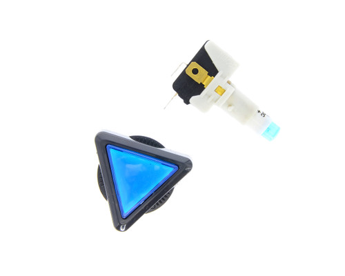 Blue Triangular Push Button for Color Match Models (EA0588)