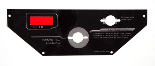 Acrylic Control Panel for Stacker Wallstreet (WS1-FP-02-R1)