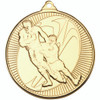 50mm Gold Rugby tackle medal award