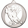 50mm Silver Rugby tackle medal award
