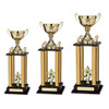 Goliath 4 column 2 tier poster trophy tower in 3 heights