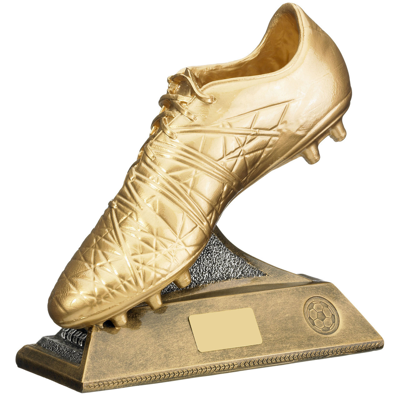 Stunning Golden Boot Football Trophy Gold Resin Award