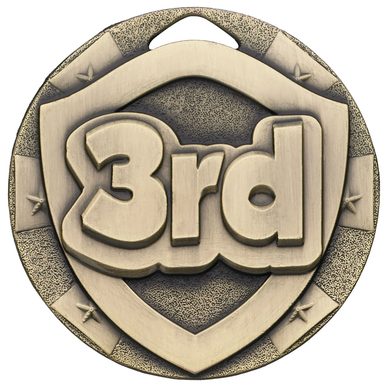 50mm 3rd Place Embossed Medal with FREE Engraving