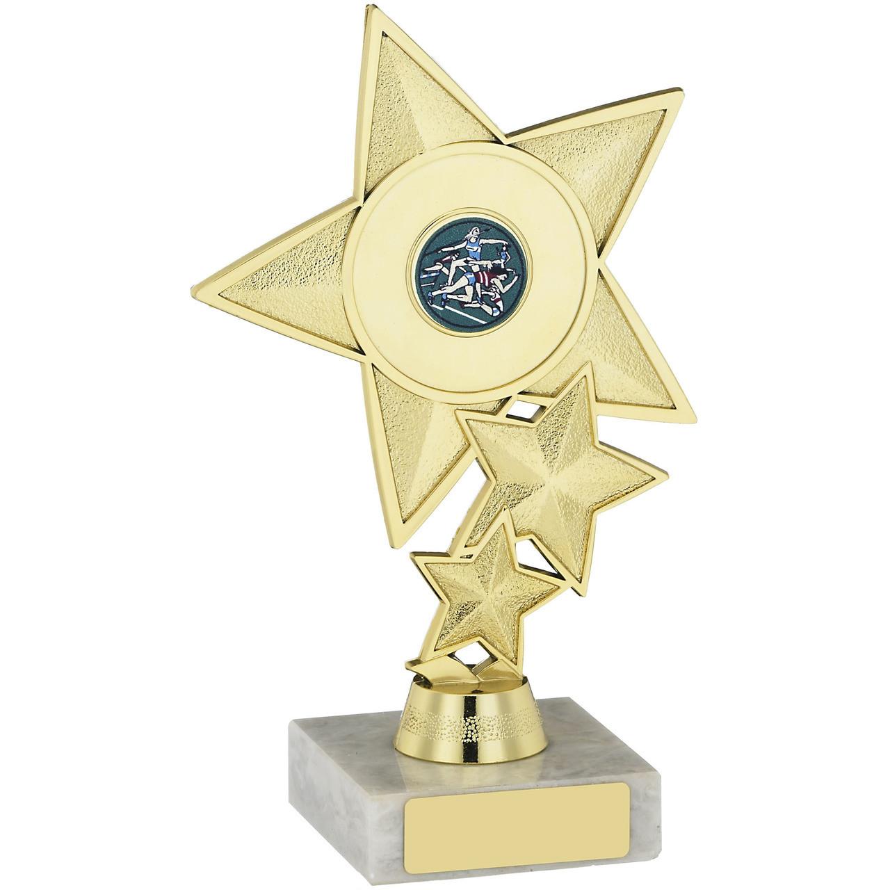 ART Award School Achievement Cup Scroll Star Budget Trophy FREE Engraving