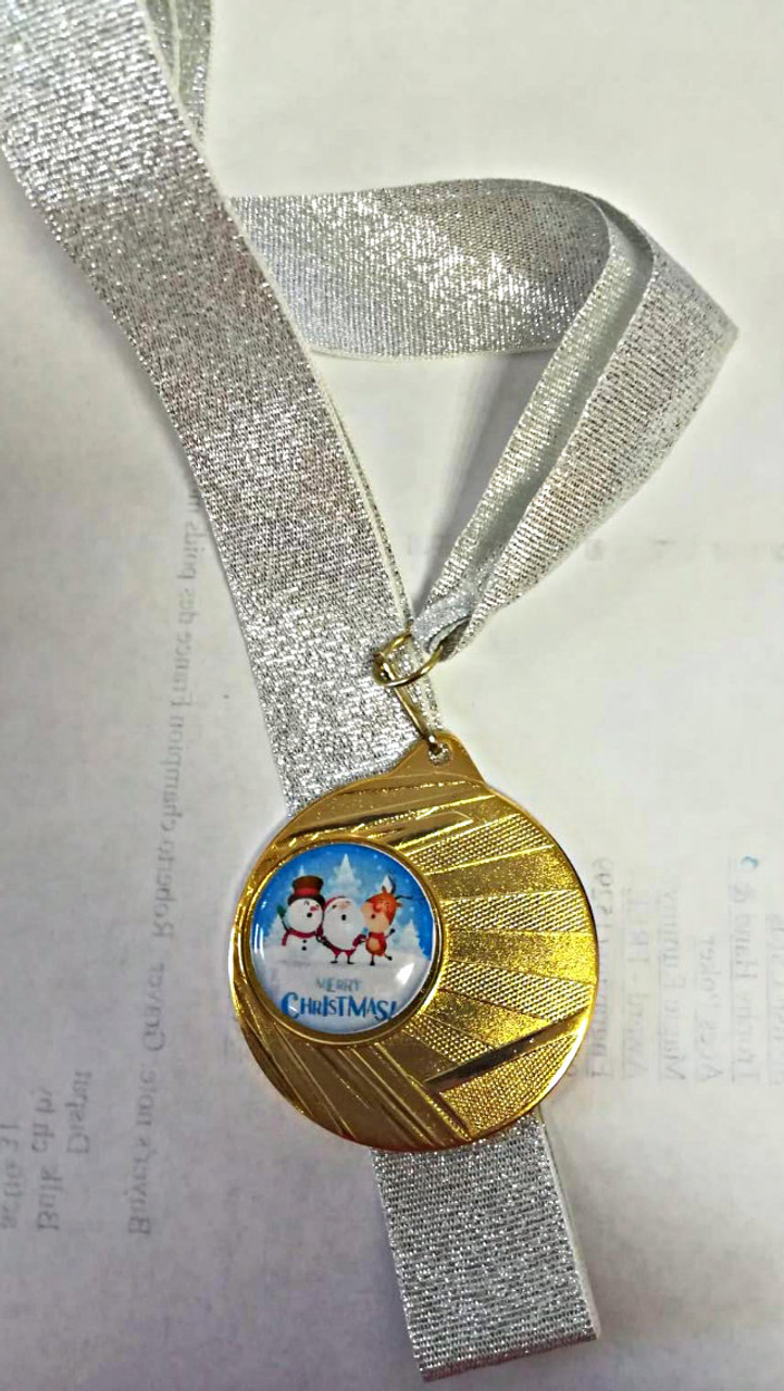 Festive Christmas Snowman Medal available in Gold, Silver & Bronze at 1st Place 4 Trophies