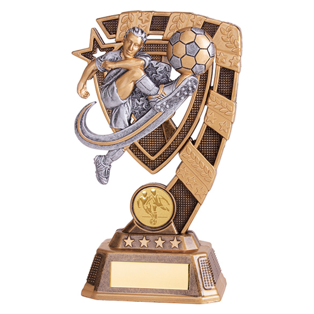 Euphoria Male Action Football trophy RF19066 with FREE Engraving