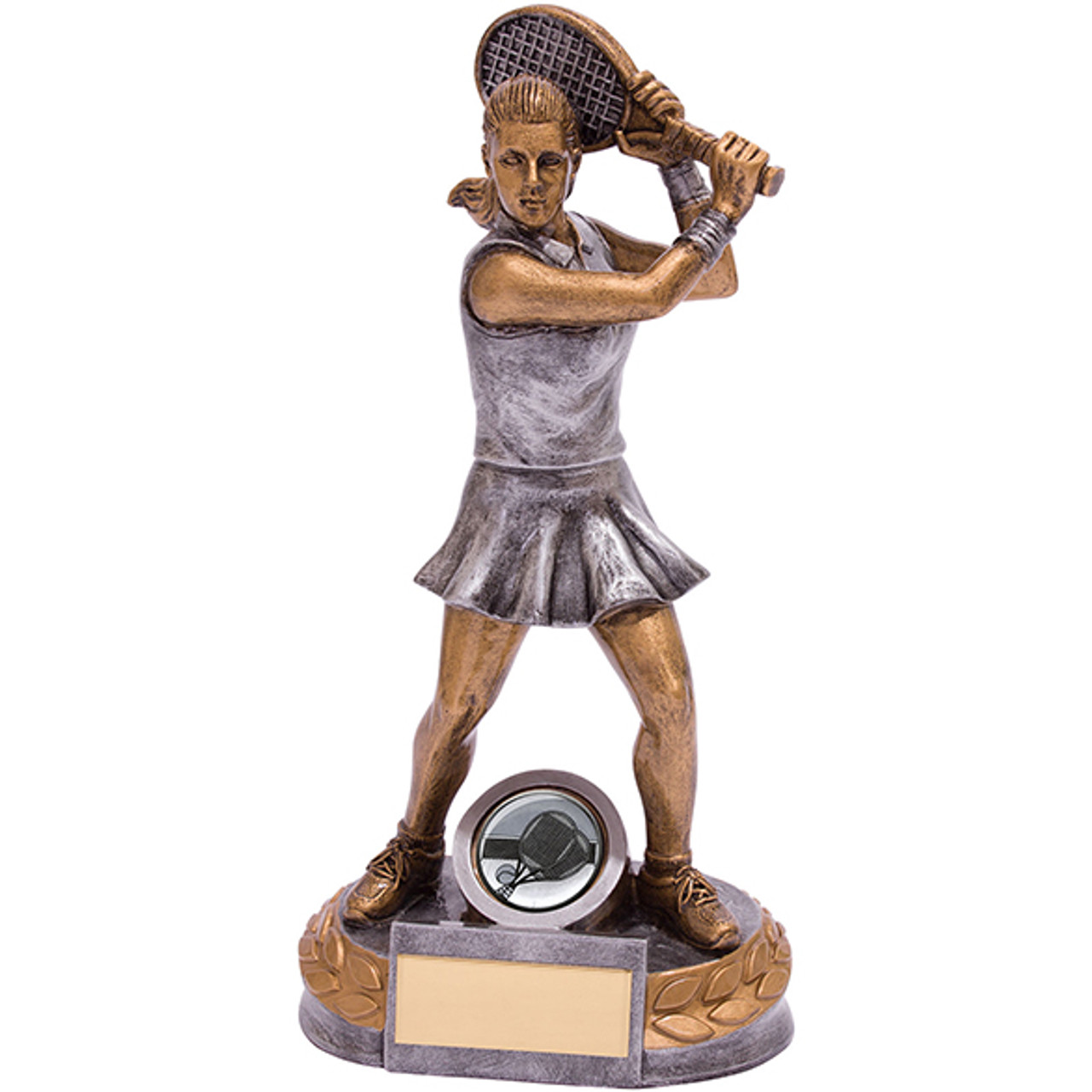 Stunning Super Ace Tennis player detailed female figure award with FREE engraving