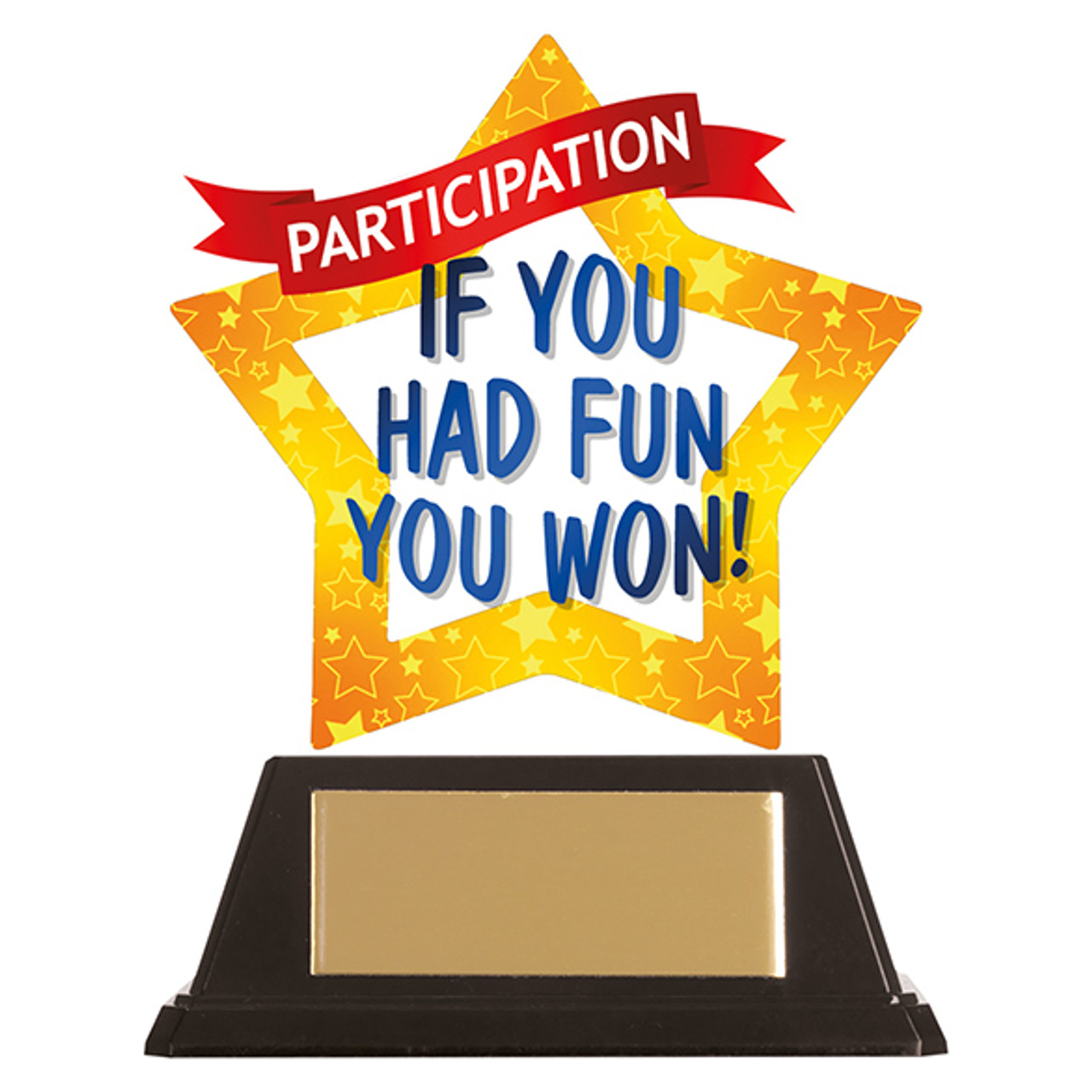 Participation acrylic award 1st Place 4 Trophies FREE engraving