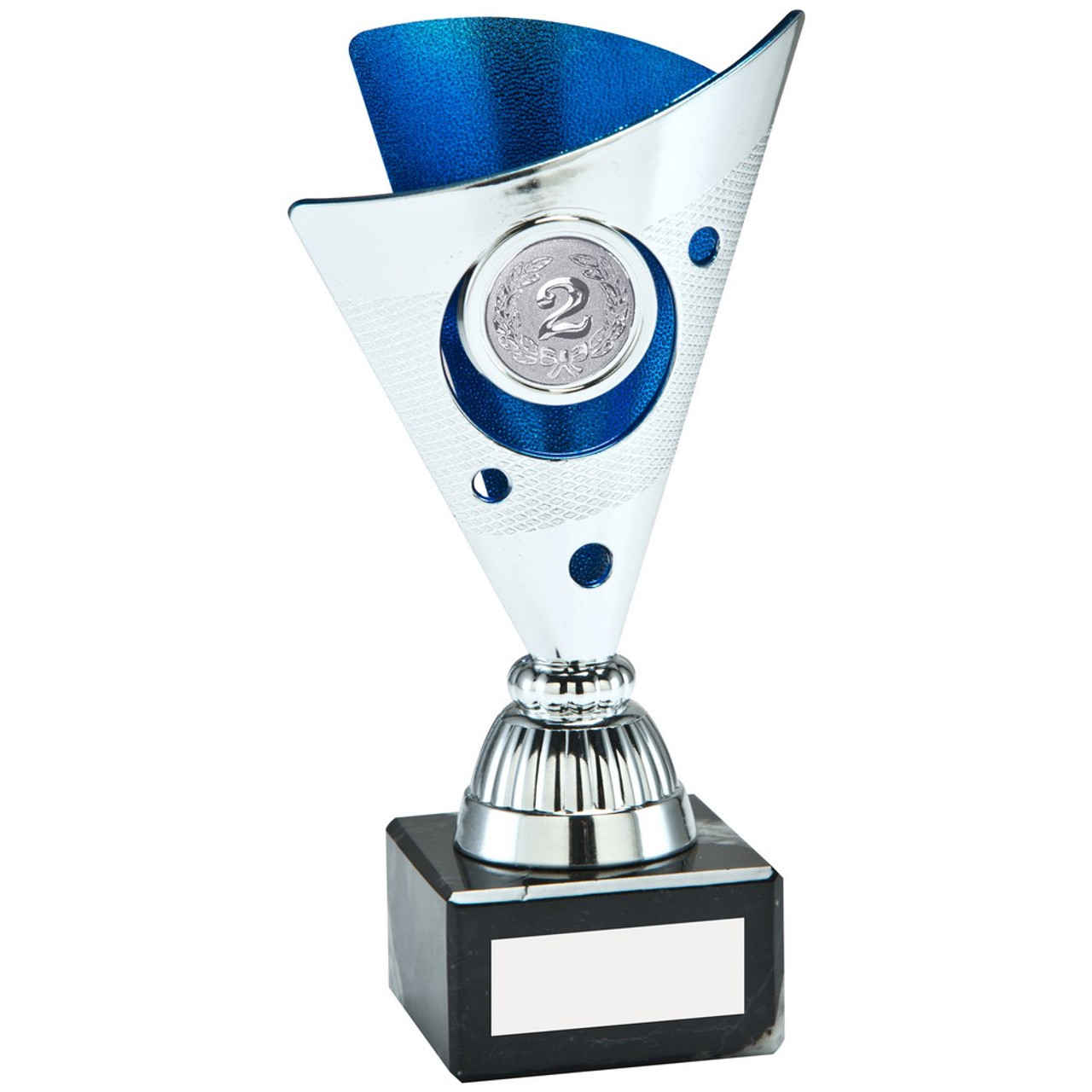 Silver & Blue plastic trophy cup at 1st Place 4 Trophies