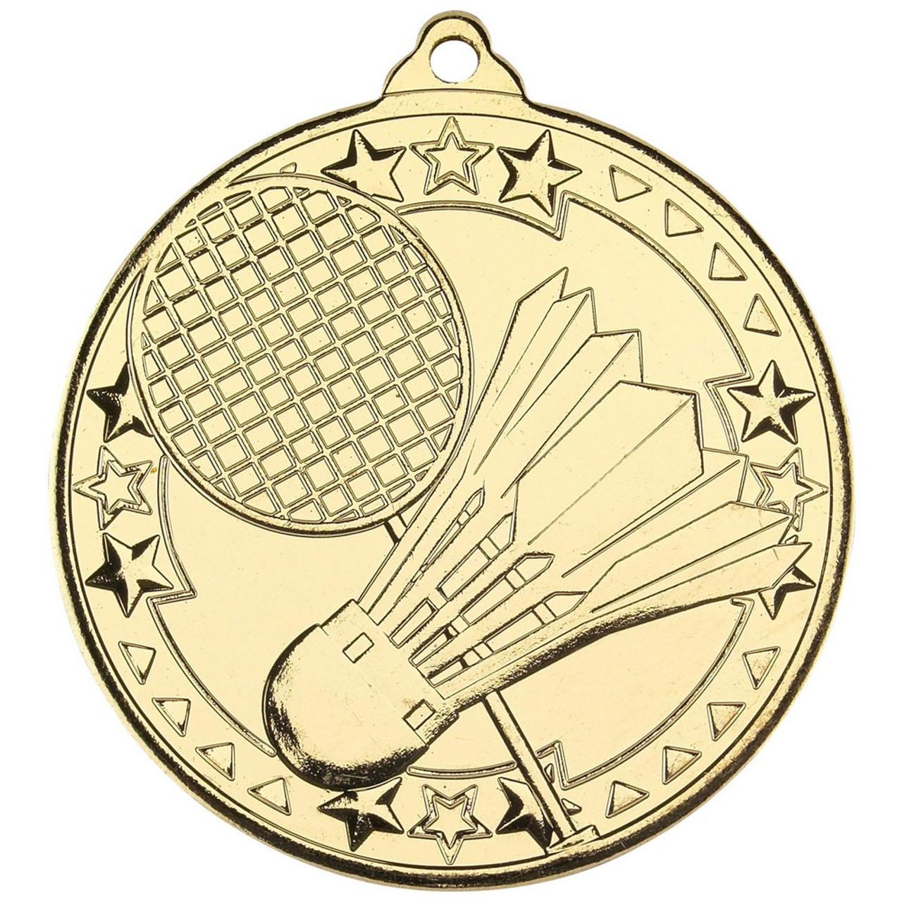 50mm Gold Badminton Medal Award