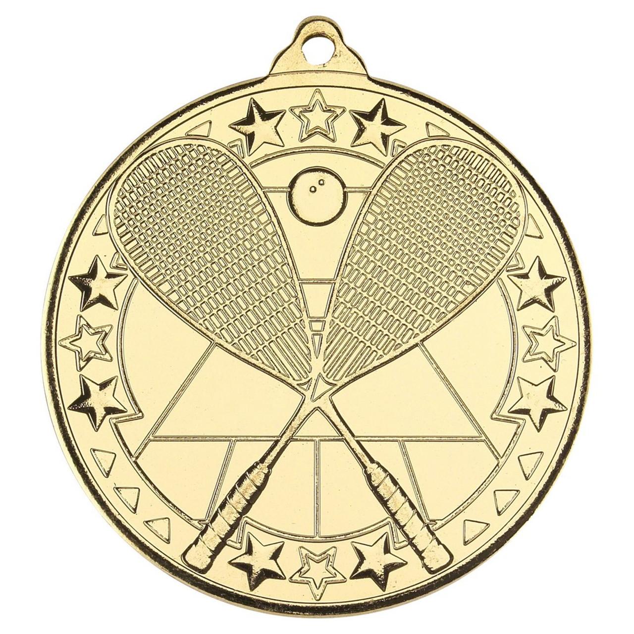 50mm Gold Squash medal