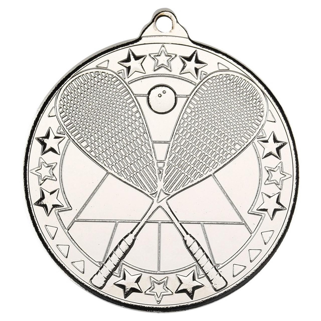 50mm Silver Squash medal