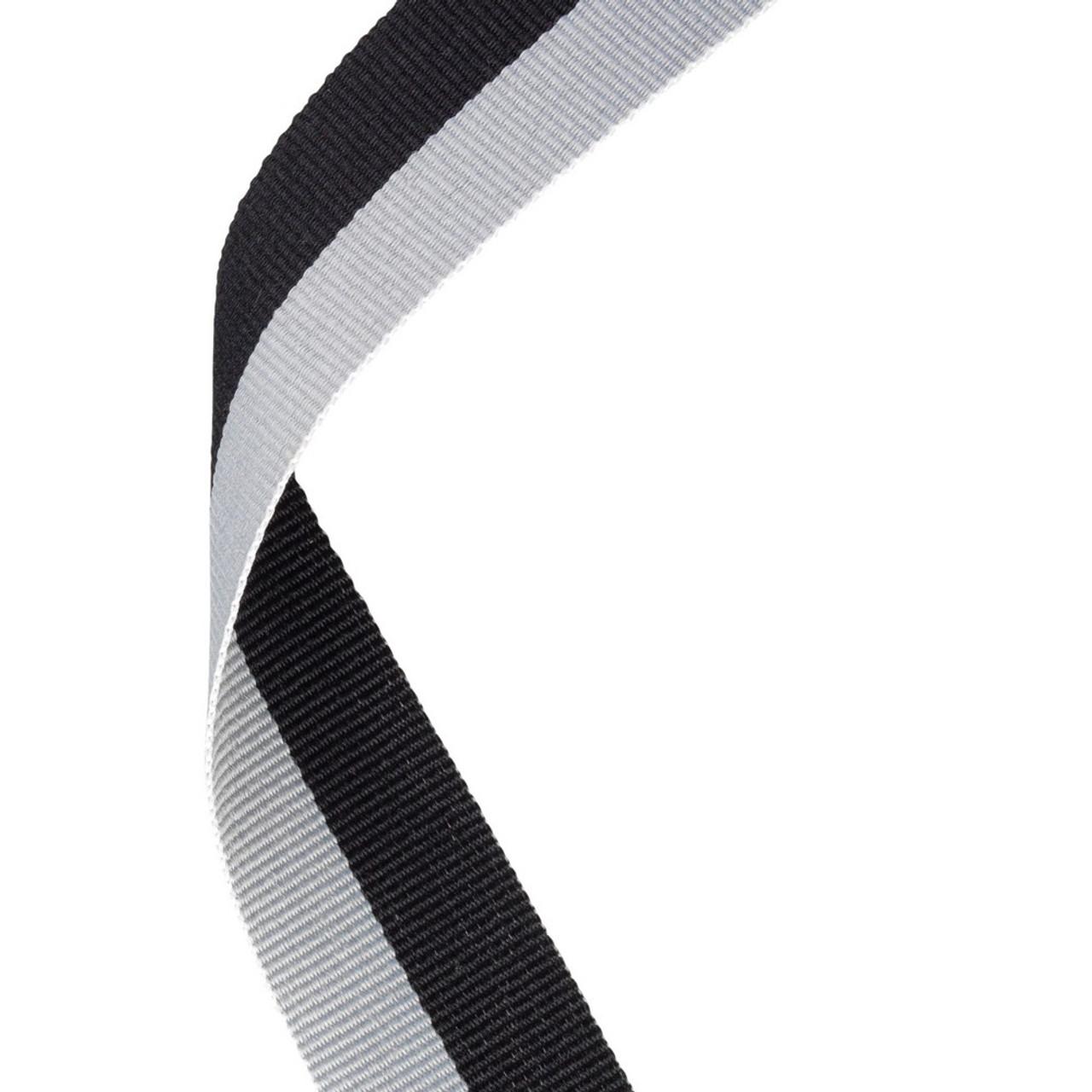 Black & Grey Medal Ribbon at 1stPlace4Trophies