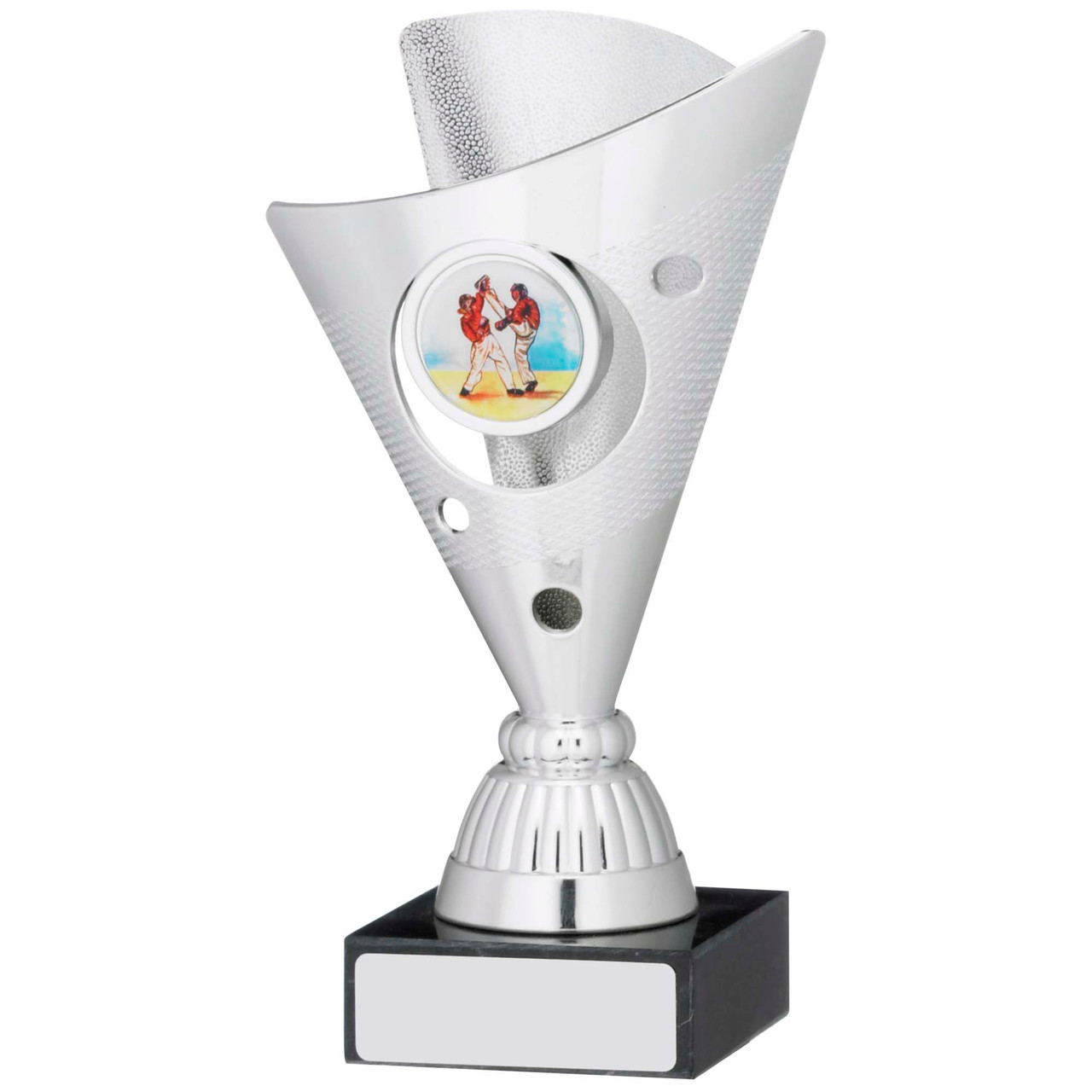 """6"""" Silver Trophy Cup with FREE engraving"""
