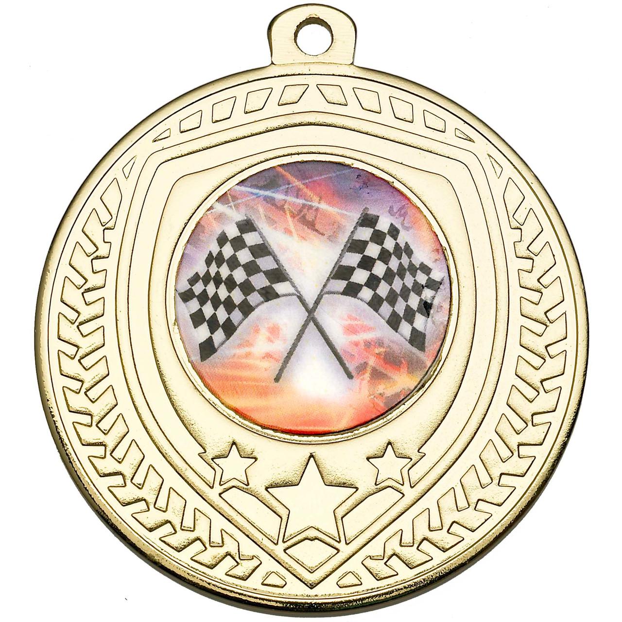 50mm Gold Multisport Shield Medal Award