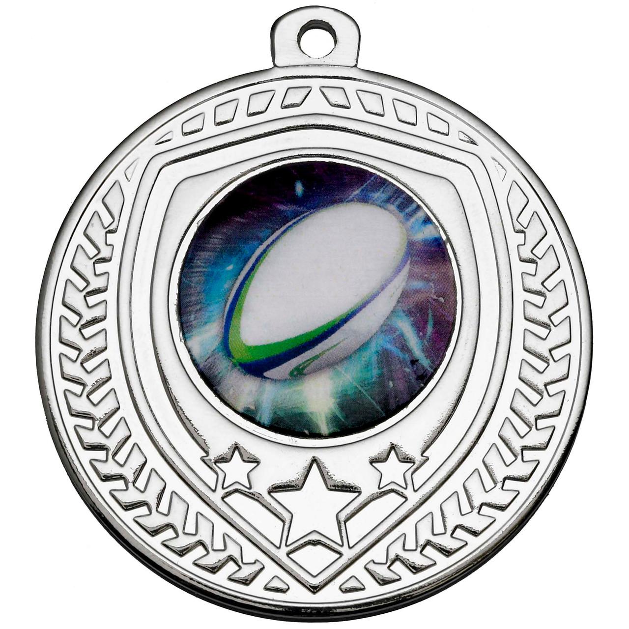 50mm Silver Multisport Shield Medal Award